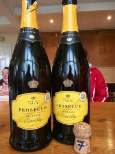 Popping Prosecco seemed the right this to do....